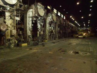 """Floor view of finish mills during down/repair turn."