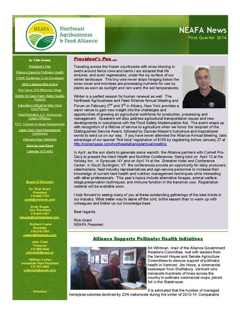 NEAFA Newsletter  Newsletter Format