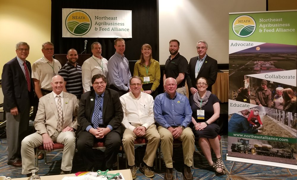 Back Row: (L-R) Rick Zimmerman (Executive Director). Craig Newton, Ryan James, Mark Anderson, Blake Lutz, Kristan Reed, Greg McCulloch, Rick Grant (retiring Board member)  Front row: Andy Dugan, Immediate Past President, John Clark, President, Lon Stephens, Secretary, Barry Baetz, Treasurer, Danielle Penny Stroop, Vice President. Missing from photo: Janet Beken Smith, Corwin Holtz, Jenny Mills, Clayton Wood.