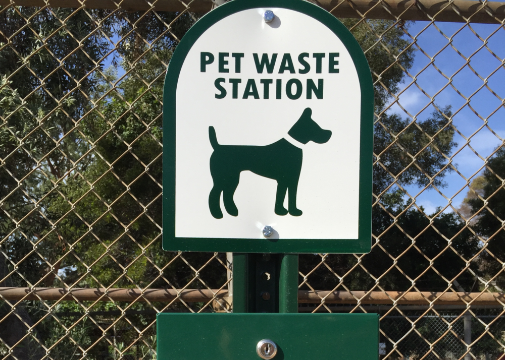 Pet Waste Stations Along the Path