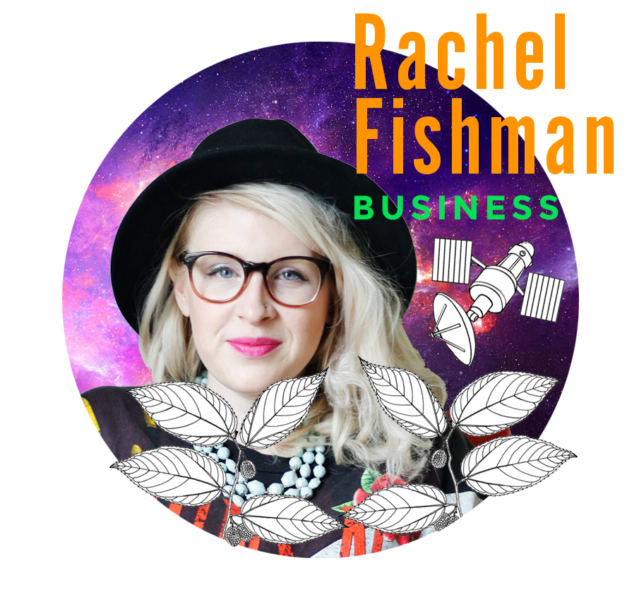 RACHEL FISHMAN   Intuitive coach, brand strategist, and graphic designer Rachel Fishman will share her process for striking down the fear inside you and rising up as the creative phoenix you know you are. So get ready to perform a bit of emotional alchemy as Rachel helps turn your fears into something better than gold!