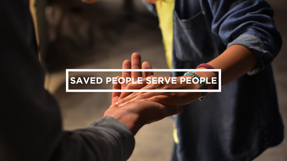 6. Saved People Serve People - The heart of the Gospel is that Jesus came to save us, and in the scandal of grace, he did that by serving us. As disciples, out of a deep awareness of our salvation, we want to cultivate lives of humble service and church to be marked by this type of servant lifestyle. You can listen more to how we approach this value here.