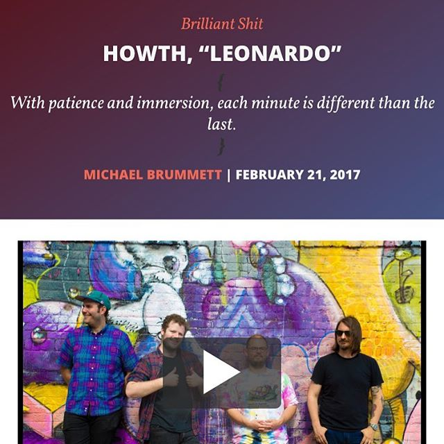 """5/5 review today in @imposemagazine for """"Leonardo"""" under the header """"Brilliant Shit"""". Movie premiere show at @lprnyc tomorrow night! So excited!! Head over to Impose to see the video and read all the nice stuff he said!"""