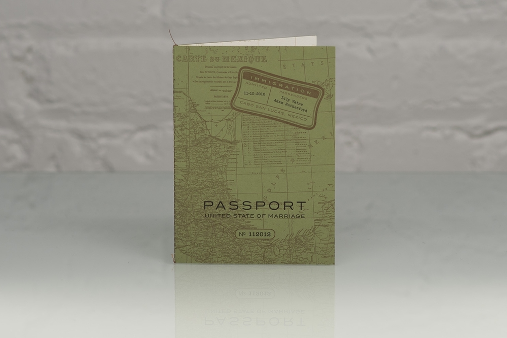 Sewn edge binding used on our Lily Passport.