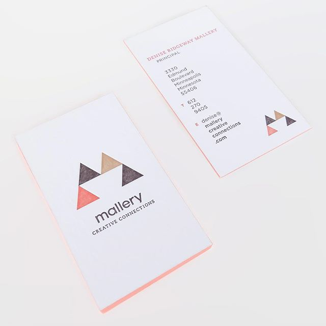 No. 028 / designed by @abzhadz / printed by @sparkletterpress / coral, tan and charcoal letterpress on @neenahpaper crane lettra fluorescent white 220# cover / #100daysofbusinesscards