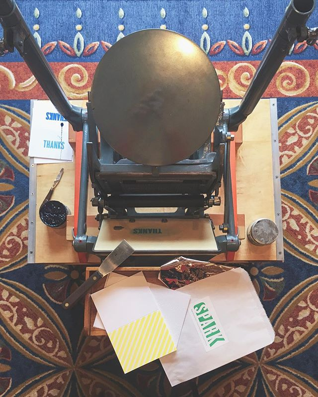 Can't wait for day two of Love and Letterpress. Get ready to talk workplace romance dos and donts, how to utilize your design and printing skills to attract potential suitors and more! #designcamp #letterpress #workshop #jk
