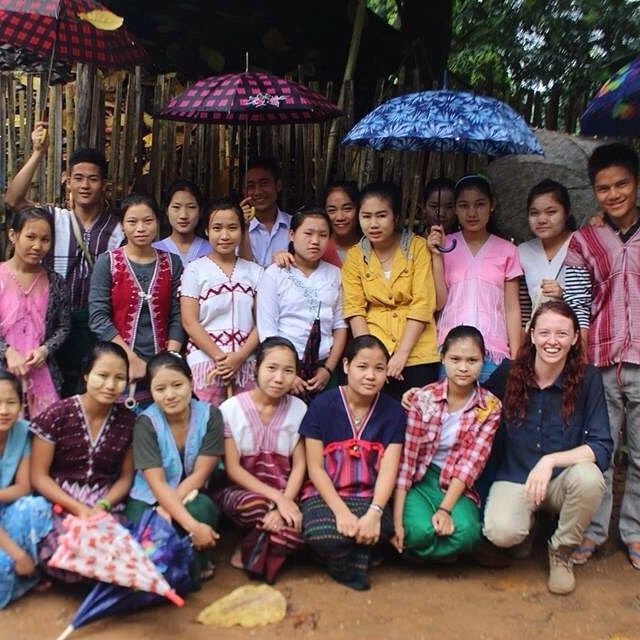 Saying goodbye to new friends.  These students welcomed me into the camp and went out of their way to make me feel comfortable: offering me their mosquito net in the girls dormitory, putting coconut shavings on the daily rice meal to add some flavour and openly sharing their stories with me.  #Burma #myanmar #maelaoon #asia #karenpeople #refugees #everydayasia