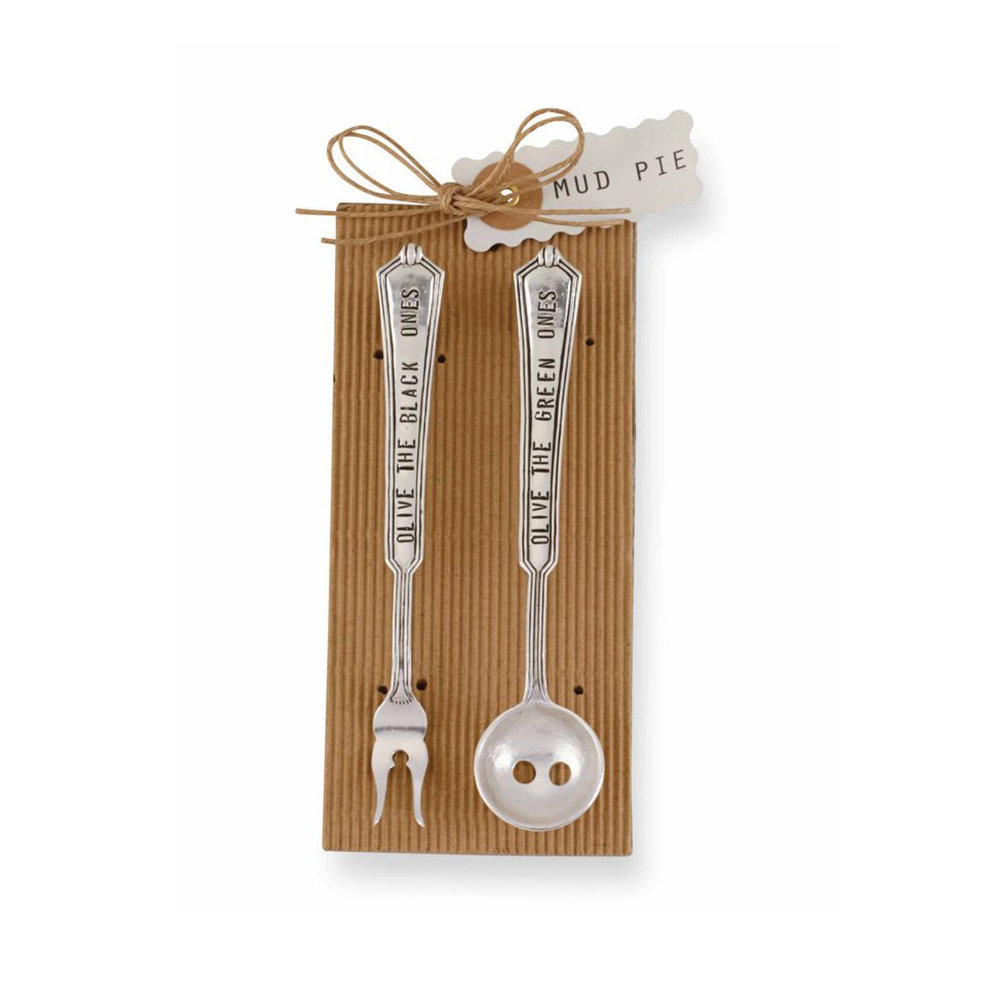 Mud Pie Olive Spoon and Fork Set $15.95   Wants 1 Has 0 Needs 1