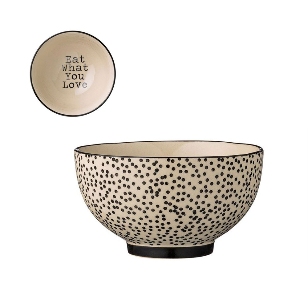 """Bloomingville Julie """"Eat What You Love"""" Bowl $10.95   Wants 2 Has 2 Needs 0"""