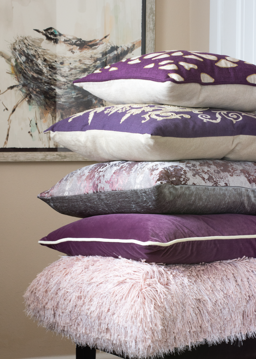 Shop our collection of throw pillows in Ultra Violet as well as many other beautiful colors.