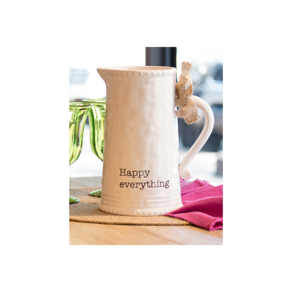 Happy Everything Pitcher $36.95   Wants 1 Has 0 Needs 1