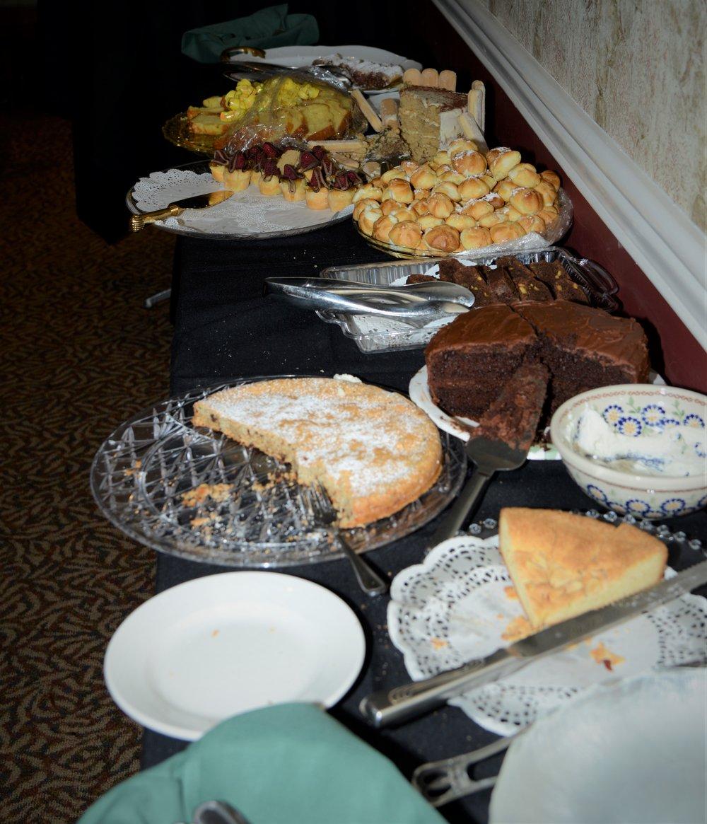 Delicious dessert spread