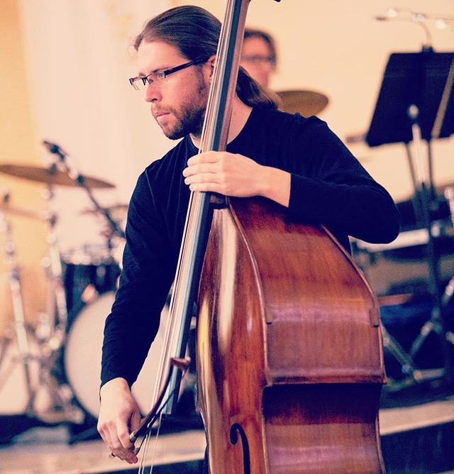 Here's a sneak peek at tomorrow's CPC composer (and bassist!) of the day, Scott Worthington! His composition, At Dusk, is written for solo bass and electronics. Come see the performance at CPC II, January 15, 2016 @ 8 pm 🎶🎶🎶 #cpcii #cpccomposeroftheday