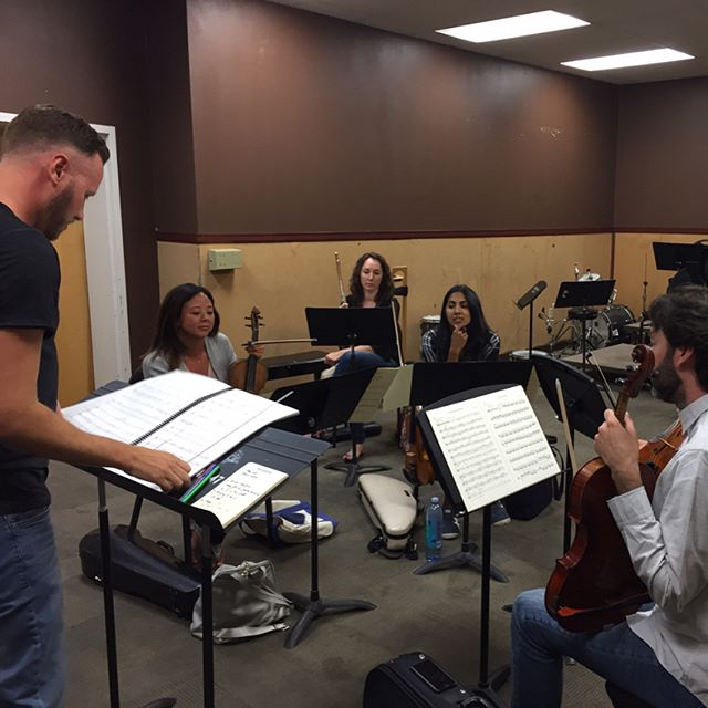 First rehearsal for I Rise by Reena Esmail! Cant wait to hear it with the vocalists! Come hear for yourself at CPC III 🎶🎶🎶May 24, 2017 8 pm Hole Memorial Auditorium @ La Sierra University #behindthescenes