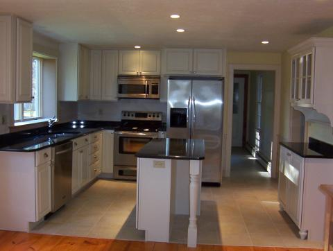 Complete Kitchen renovation: layout, cabinets, flooring, counter tops, window