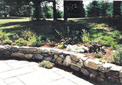 Custom Patio and Stone Wall  Contest winner!
