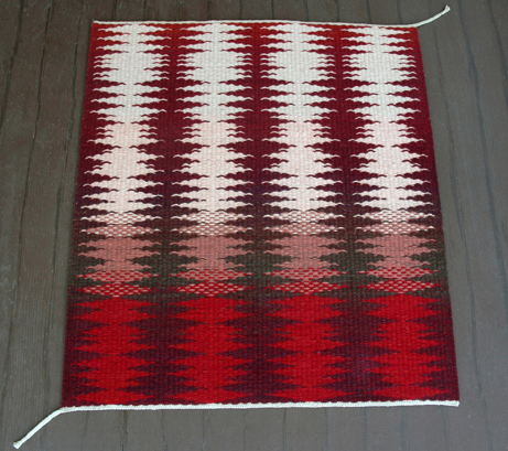 Block Weave Rug with Shifting Pattern