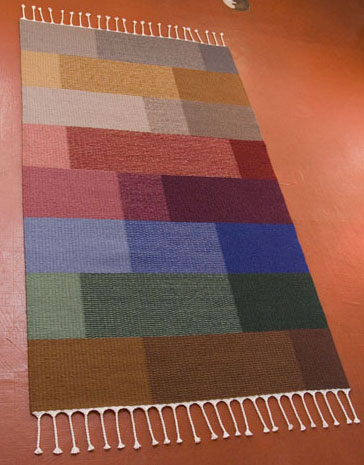 Block Weave Rug with Random Blocks