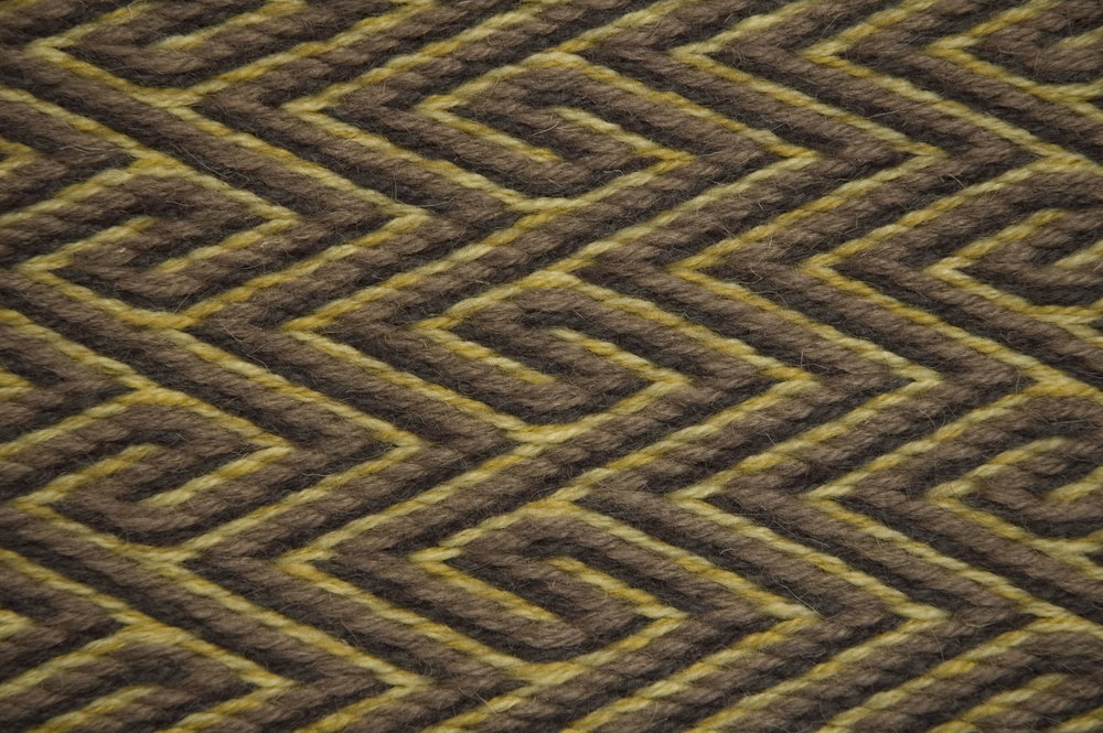 Twill Weave with Meander pattern
