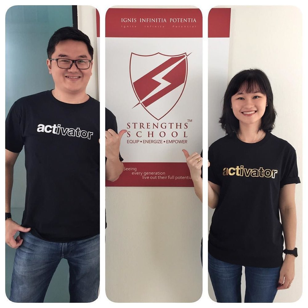 Singapore StrengthsFinder Strengthes Tees Strengths School Amanda Joy Victor Seet