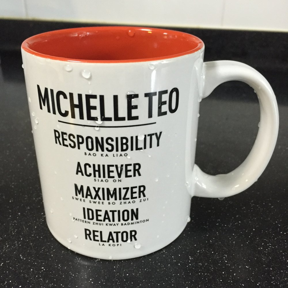 Singapore StrengthsFinder Singlish Mug Michelle Teo