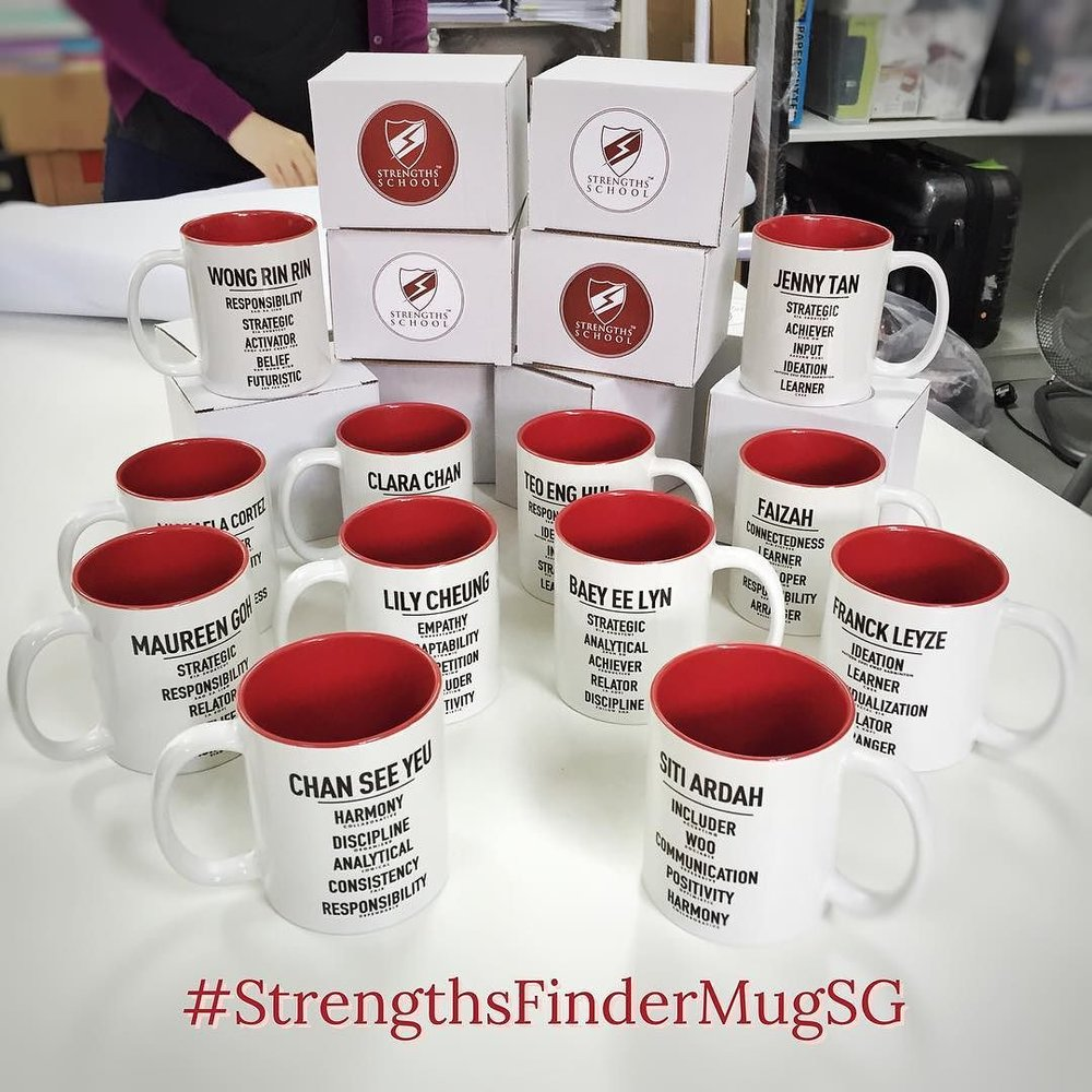 Singapore Gallup StrengthsFinder Mugs Team Building Workshop Victor Seet