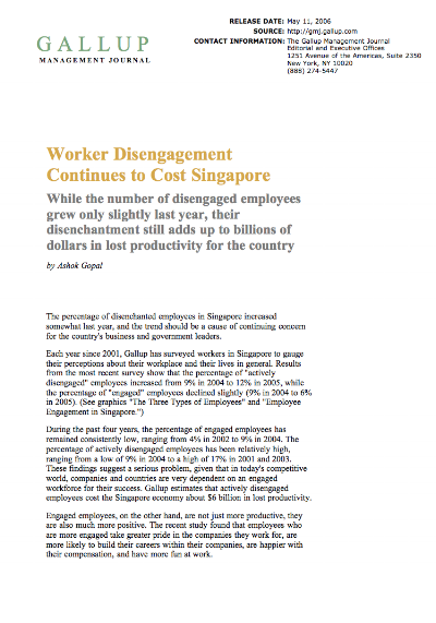 Worker Disengagement Continues to Cost Singapore - Gallup Management Journal.png