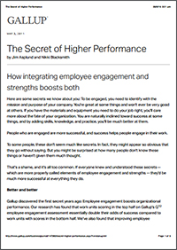 The Secret of Higher Performance (Gallup, Inc.)