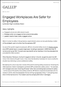 Engaged Workplaces Are Safer for Employees (Gallup, Inc.)