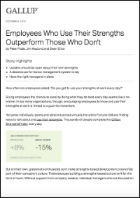 Employees Who Use Their Strengths Outperform Those Who Don't (Gallup, Inc.)