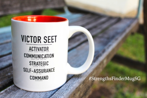 Singapore StrengthsFinder Coach Victor Seet Mug Singlish Version