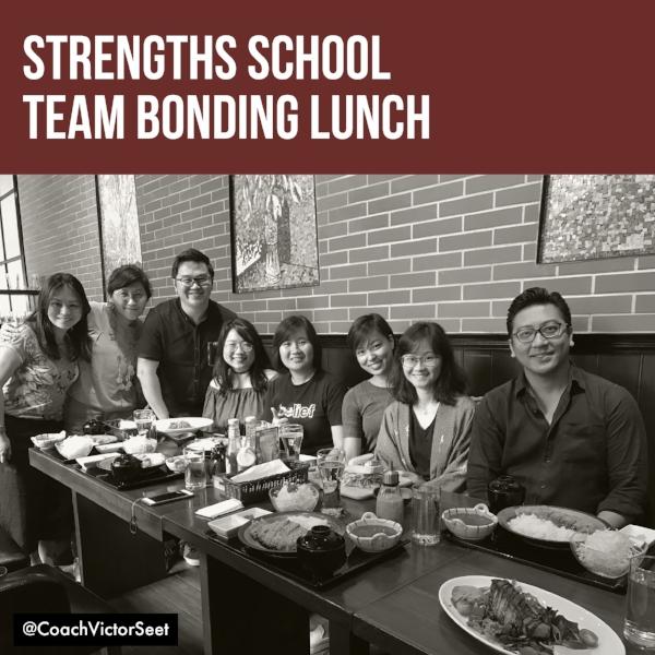 StrengthsFinder Singapore Strengths School Coaches Team Bonding Lunch 2017