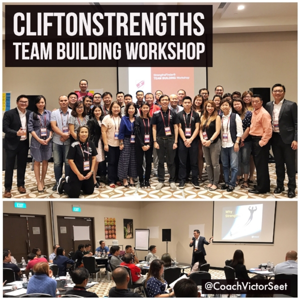 Singapore StrengthsFinder Teambuilding Workshop using Gallup CliftonStrengths by coach Victor Seet
