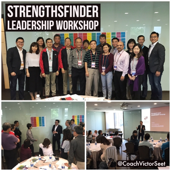 Singapore StrengthsFinder Leadership Workshop using Gallup CliftonStrengths Profiling Coach Victor Seet
