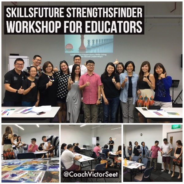 Singapore StrengthsFinder SkillsFuture Leadership Workshop using Gallup CliftonStrengths Victor Seet