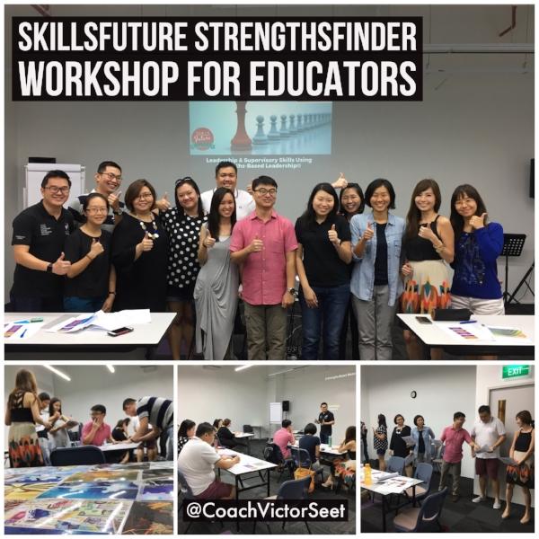 Singapore StrengthsFinder SkillsFuture Leadership Workshop using Gallup CliftonStrengths Victor Seet