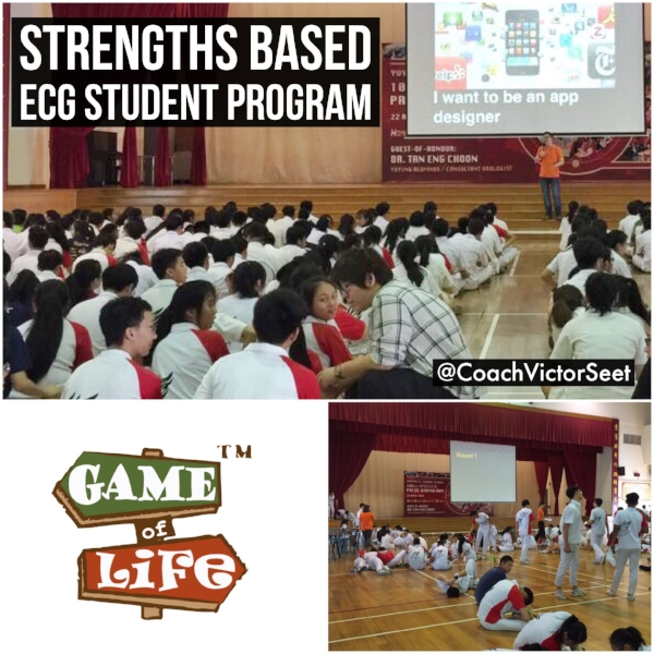 Singapore Strengths based game of life ecg student program coach Victor Seet