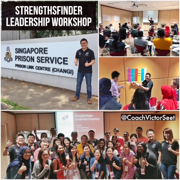 Gallup StrengthsFinder Leadership Workshop Singapore Prison Service Coach Victor Seet