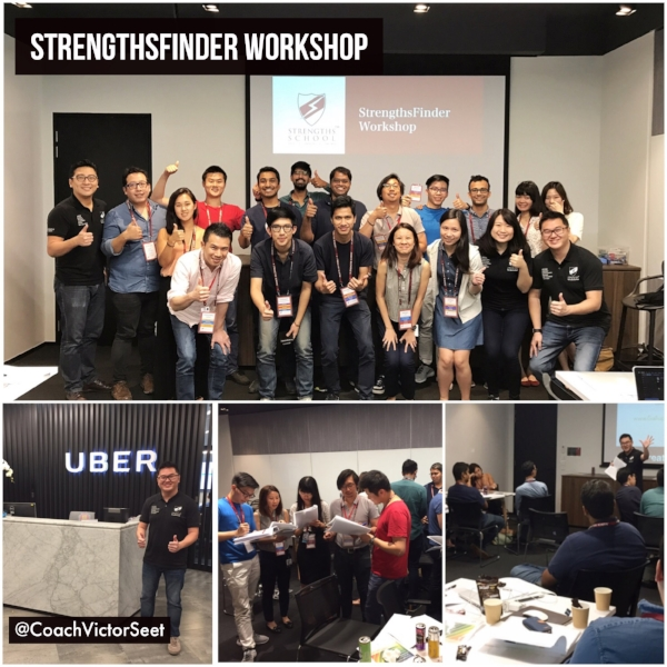 Gallup StrengthsFinder Workshop Singapore Uber Victor Seet
