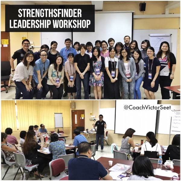 Gallup StrengthsFinder Singapore Workshop MOE Special Education Coach Victor Seet
