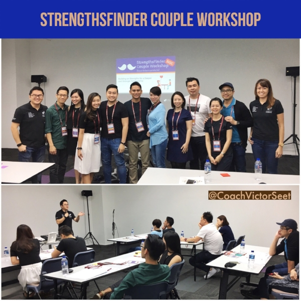 Singapore StrengthsFinder Gallup Couple Workshop February 2017 Victor Seet