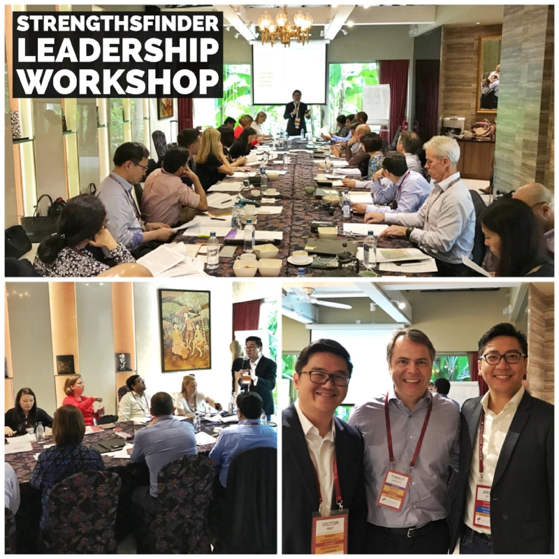 Singapore StrengthsFinder Leadership Workshop Senior Management Gallup Coach Victor Seet