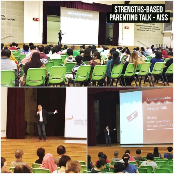 Singapore StrengthsFinder Parenting Talk Gallup Coach Victor Seet Ahmad Ibrahim Secondary School