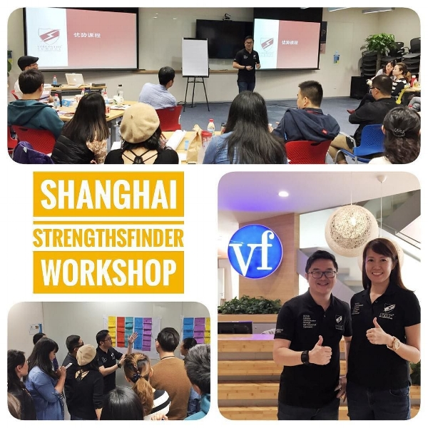 Strengthsfinder team building workshop China Shanghai VF DTC