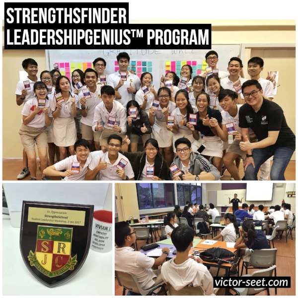 StrengthsFinder Singapore student leadership workshop srjc victor seet