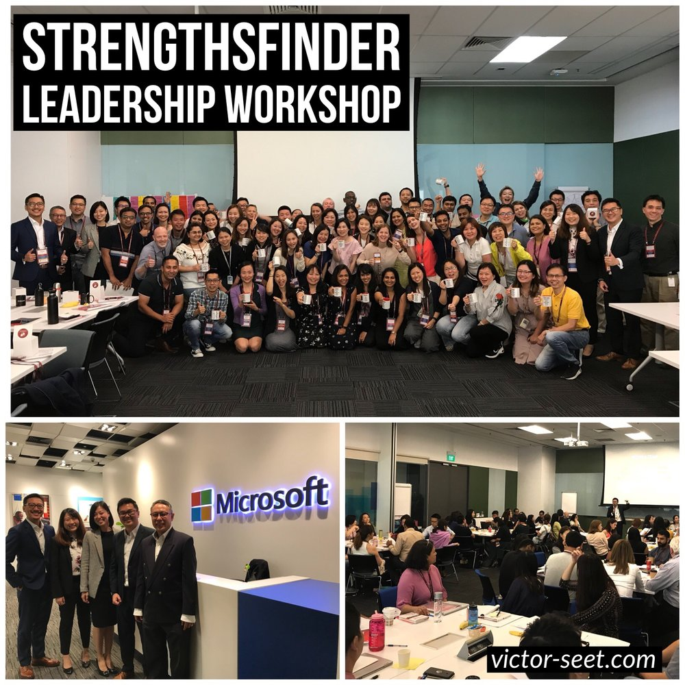 Gallup StrengthsFinder Leadership Workshop Singapore Microsoft Operation cliftonstrengths Victor Seet