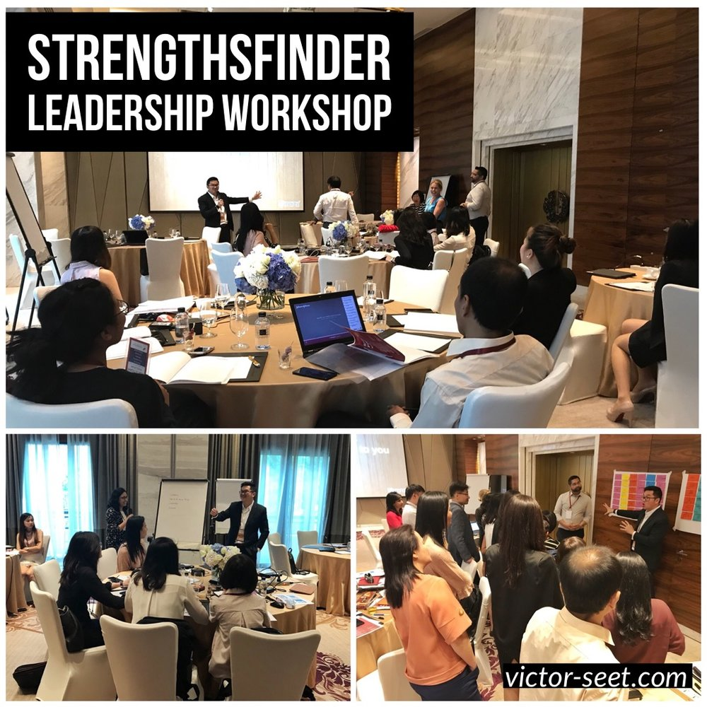 StrengthsFinder Leadership Workshop Bangkok CliftonStrengths Coach Victor Seet Johnson Johnson