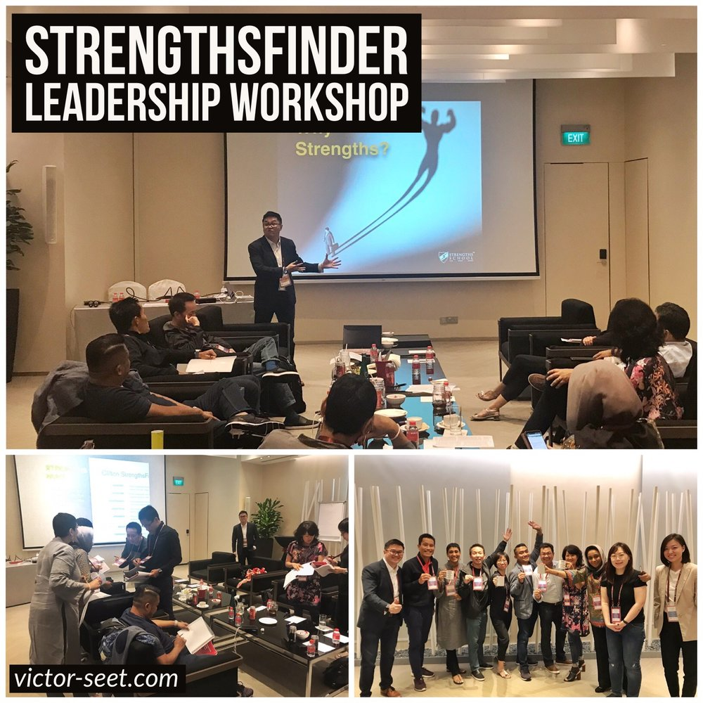 StrengthsFinder Singapore Leadership Workshop Microsoft Legal CELA CliftonStrengths Coach Victor Seet