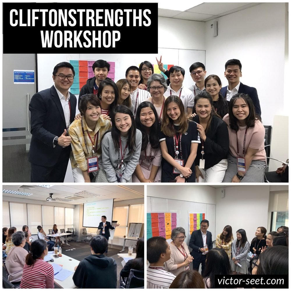 CliftonStrengths Thailand Workshop for JnJ Gallup StrengthsFinder Coach Victor Seet