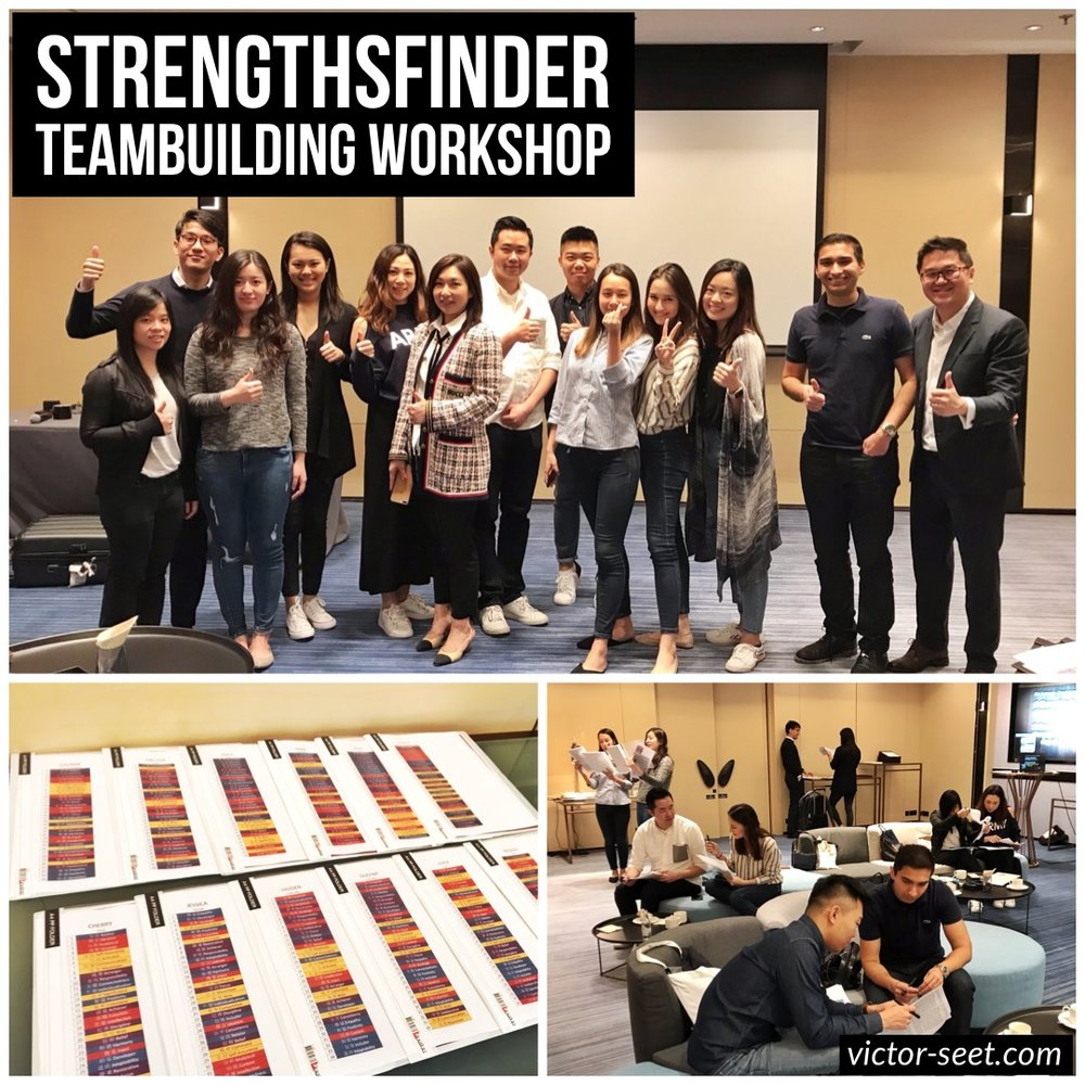 Gallup StrengthsFinder CliftonStrengths Hong Kong Workshop Marriott International Digital Team Victor Seet